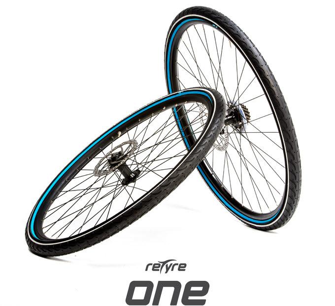 리타이어 원, 도로에 따라 갈아입는 자전거 타이어