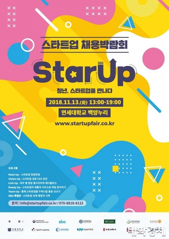 연세대 창업지원단, 오는 13일 대규모 '스타트업 채용박람회' 개최