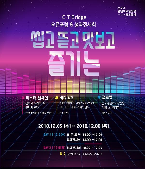 한콘진, 'C-T Bridge 12월 오픈포럼' 개최